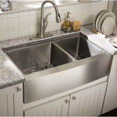 Starstar Stainless Steel 35-inch x 20-Inch 60/40 Double Bowl 16-gauge Undermount Farmhouse Apron Kitchen Sink | Overstock.com Shopping - The Best Deals on Kitchen Sinks
