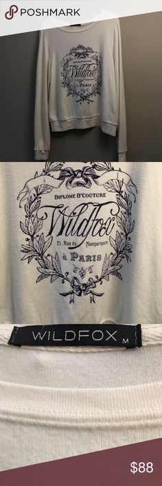 Wildfox Country Paris top Soft, lightweight sweatshirt. Wildfox. New without tags. Wildfox Sweaters Crew & Scoop Necks