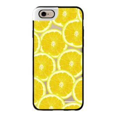Refreshing Fruity Citrus Yellow Lemons Summer Pattern on Transparent... (€44) ❤ liked on Polyvore featuring accessories, tech accessories, phone cases, phone, cases, electronics, iphone case, iphone cover case, iphone cases and pattern iphone case