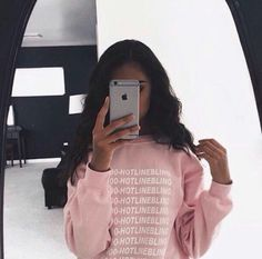 Drake Hotline Bling sweater would go cute with hair curled in ponytail and leggings with nikes!