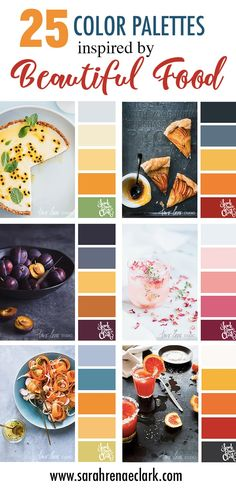 25 Color Palettes Inspired by Beautiful Food Food Branding, Logo Food, Coloring Tips, Adult Coloring, Logo Color Schemes, Colour Pallette, Colour Combo, Color Theory, Colouring Techniques