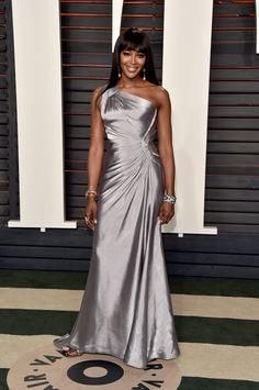Pin for Later: Voilà Ce Que les Célébrités Ont Fait à L'afterparty des Oscars Naomi Campbell