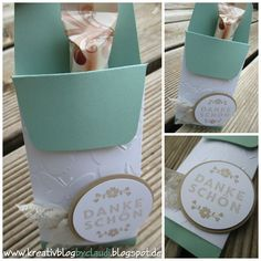 www.kreativblogbyclaudi.blogspot.de: Amicelli-Verpackung mit dem neuen Tütenboard Cello, Envelope Punch Board, We R Memory Keepers, Paper Crafts, Diy Crafts, Treat Holder, Stamping Up, Small Gifts, Goodies