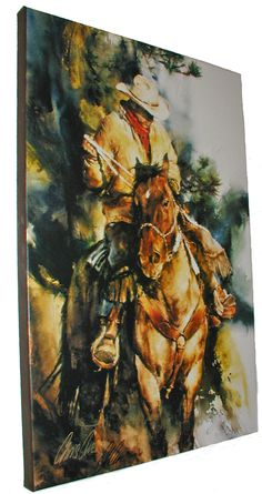 Western Equine Artist | Western Horse Art Gallery wrapped horse and