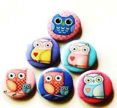 Fridge magnets - Set of 6 Owl refrigerator magnets $10