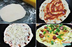 Pizza de frigideira - Amando Cozinhar - Receitas, dicas de culinária, decoração e muito mais!