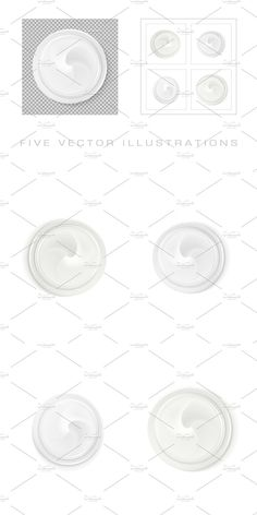 Vector File, Vector Graphics, Container Design, Top View, Your Design, Concept, Cream, Illustration, Tops