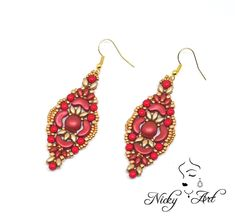 Earrings Spring beading pattern by NickyArtGioielli on Etsy
