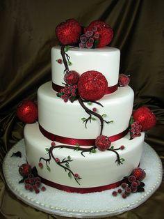 Christmas Wedding Cakes Snow White Red Cake Designs Party
