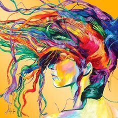 'Windswept' painting by Linzi Lynn US. 'Открытая всем ветрам' картина Линзи Линн США. #иллюстрация #живопись #искусство #графика #акварель #холст #масло #пастель #арт #выставки #art #illustration #pencil #artsy #drawing #draw #watercolor #oil #pastel #sketchbook #graphic #exhibitions #contemporaryart #timetoart