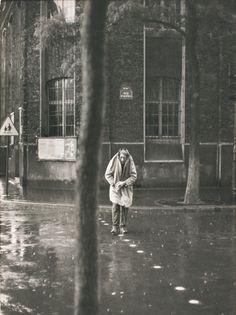 Henri Cartier-Bresson. Alberto Giacometti, rue d'Alésia, París, Francia, 1961 Gelatina de plata, copia realizada en 1962 Colección Fundación...