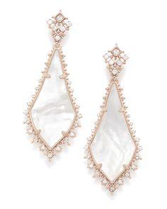 Martha Statement Earrings In Rose Gold | Kendra Scott