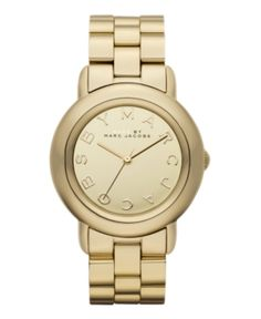 Marc by Marc Jacobs Watch, Women's Marci Gold Plated Stainless Steel Bracelet