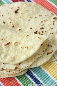 Homemade Flour Tortillas (Made with Oil). Way better than store bought!