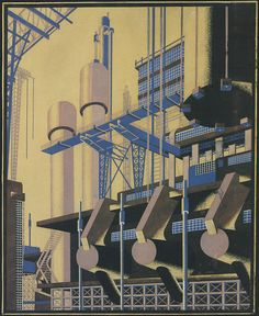Iakov Chernikhov Architectural Fantasy, composition 75 Leningrad, USSR 1931 Ink and gouache on paper 31 x 25 cm