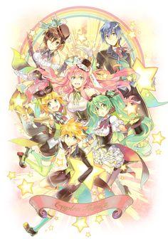 #Miku #Rin #Len #Luka #Kaito #Meiko
