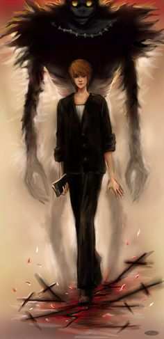Light yagami _Ryuk_Death Note by DZIU09.deviantart.com on @deviantART