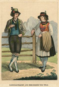 Bad Tölz, Trachten, altkol. Lithogr. bei Dilger, 1838 | eBay #Miesbach