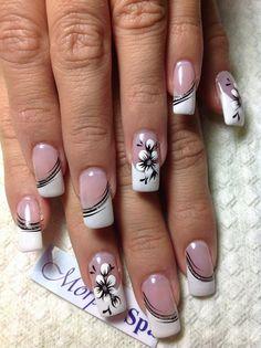 Fingernail Designs, Nail Polish Designs, Nail Art Designs, Coral Gel Nails, White Nails, French Nail Designs, Ombre Nail Designs, French Nails, Violet Pastel