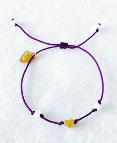 Weekly Bracelet,Purpple Bracelet, Adjustable Bracelet, Thread Bracelet, Girl Bracelet, Women Bracelet, Gift Birthday, Fashion Bracelet, de ByHS en Etsy