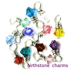 Birthstone jewelry charms Swarovski Crystal by urbancraftmarket, $3.25