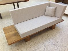 Contemporary sofa in solid wood by AtelierBoisArt on Etsy