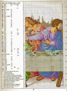 schema+punto+croce+L'ultima+cena+(3).jpg (1180×1600)