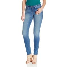"""Jessica Simpson Women's """"Cherish"""" Skinny Jean Galena ($69) ❤ liked on Polyvore featuring jeans, jessica simpson jeans, skinny jeans, blue skinny jeans, super skinny jeans and cut skinny jeans"""