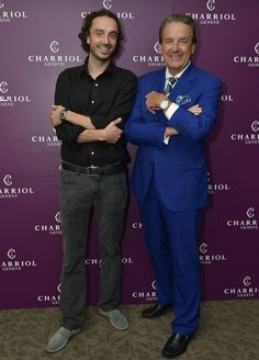 Mr. Philippe Charriol, founder and owner of Charriol together with his son, Alexandre Charriol, visual director of Charriol