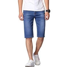 90261e3dcd82 DEE MOONLY 2017 New Fashion Summer Short Jeans Trousers For Men Hot Sale Casual  men shorts