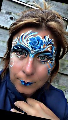 #augustchallenge #day23 #drops #curls #swirls #facepainting #facepainter August Challenge, Face Paintings, Flowers Nature, Swirls, Carnival, Artists, Inspiration, Biblical Inspiration, Carnavals