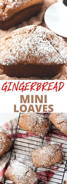 Gingerbread Mini Loaf recipe! Perfect for holiday gift giving....or keep them all for yourself! #gingerbread #recipes #christmas #holidays #foodgifts #miniloafs