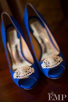 Love the royal blue!   Badgley Mischka Bridal Shoes