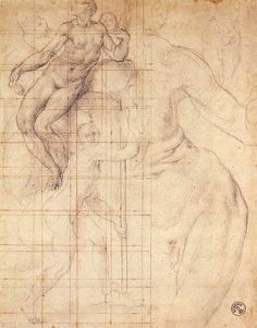 Adam and Eve at Work by PONTORMO, Jacopo #art