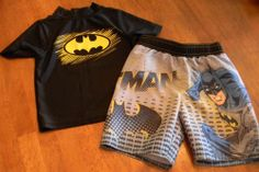 Toddler Boys 2T Batman Swim Suit Trunks Rash Guard Shirt Set Old Navy | eBay