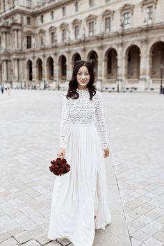 Dreamy Destination Wedding in Paris in Paris, Île-de-France: Striking, Timeless & Endlessly Romantic - an Aisle Planner Real Wedding. Real Weddings, Catholic, Destination Wedding, Wedding Inspiration, Lunch, Romantic, Women's Fashion, Paris, Boho