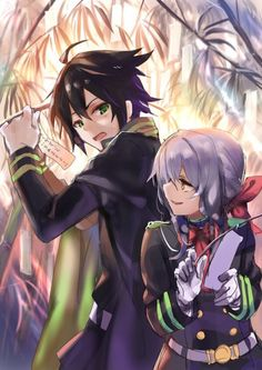 Nov 2018 - Ship or Skip? - Anime : Owari No Seraph Owari No Seraph Guren, Shinoa Hiiragi, Vampires, Tamako Love Story, Mikaela Hyakuya, Dark Thoughts, Seraph Of The End, Manga Couple, Fan Art