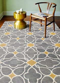 Birch Lane™ Heritage Kurtis Hand-Knotted Wool Slate/Cream Geometric Area Rug Rug Size: x Cream Area Rug, Blue Area Rugs, White Console Table, Quatrefoil Pattern, Transitional Area Rugs, Carpet Stains, Contemporary Rugs, Grey Rugs, Online Home Decor Stores