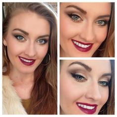MAC rebel lipstick with a smoked out brown eye look