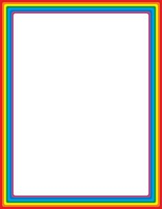 Free Rainbow Border Templates Including Printable Border Paper And Clip Art  Versions. File Formats Include GIF, JPG, PDF, And PNG.  Free Paper Templates With Borders