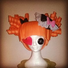 Lalaloopsy foam wig Pirate Style/Halloween/Cosplay/Theme Party