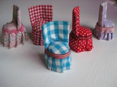DIY chairs, dolls house furniture...great slipper chair for bedroom scene or vanity