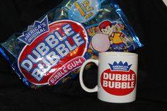 Dubble Bubble Gum Mug Cup America's Original Double Bubble 1lb bag of Gum Bundle