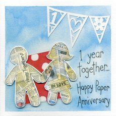 Holy Mackerel are known for our huge range of numbered anniversary cards - here's a lovely new paper anniversary card featuring Kate Brazier's beautiful watercolour artwork!