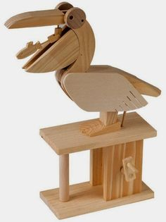 Timberkits are mechanical models made of wood and sold in kit form. Put them together, turn the handle and see them work. There is a great range of themes and and skill levels to suit everyone. Timberkits are creative, fun and educational Grizzly Woodworking, Antique Woodworking Tools, Unique Woodworking, Cool Woodworking Projects, Woodworking Joints, Woodworking Workbench, Woodworking Supplies, Timber Wood, Wood And Metal