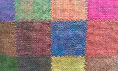 Alternative pin loom square joining technique.  Nearly invisible.