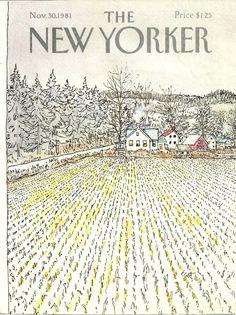 """The New Yorker"" cover by Arthur Getz, November 30, 1981 (https://www.etsy.com/transaction/177738642?)"