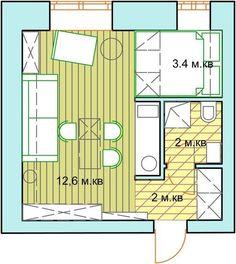 Квартира - студия 20 кв м - Дизайн интерьеров   Идеи вашего дома   Lodgers