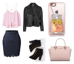 """""""eat !"""" by yarlin-perez on Polyvore featuring Michael Kors, LE3NO, MANGO, Topshop and Casetify"""