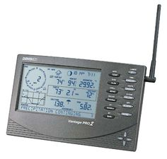 View data from a wireless Vantage Pro2 integrated sensor suite, or for use with other wireless Davis stations. This compact console is loaded with features, including a backlit LCD screen and that makes viewing weather data easy, day or night.